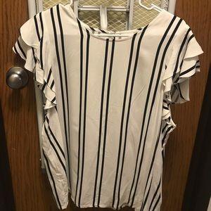 Black/White Striped Blouse